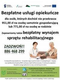 Bezpłatne usługi opiekuńcze dla osób niesamodzielnych